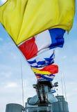 Nautyczne sygnałowe flaga Zdjęcie Royalty Free