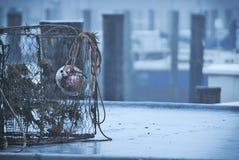 Nautyczny Dennego połowu pudełko przy Maryland Marina zdjęcia royalty free