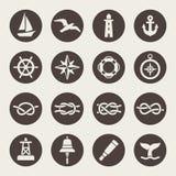 Nautyczny ikona set royalty ilustracja
