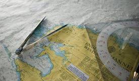 Nautyczny mapy zakończenie up obrazy royalty free