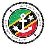 Nautyczny podróż znaczek z świętym Kitts I Nevis royalty ilustracja