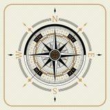 Nautyczny rocznika kompas 02 ilustracja wektor