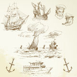 Nautyczny set ilustracji