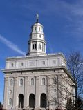 Nauvoo Temple (front). A temple of the Church of Jesus Christ of Latter-day Saints in Nauvoo, IL Royalty Free Stock Image