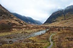 Nauwe vallei Coe, Schotland Royalty-vrije Stock Foto's