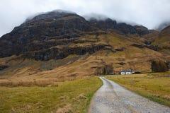 Nauwe vallei Coe, Schotland Royalty-vrije Stock Afbeeldingen