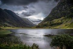 Nauwe vallei Coe, Schotland stock afbeeldingen