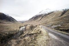 Nauwe vallei Etive royalty-vrije stock afbeeldingen
