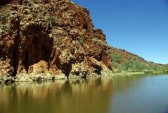 Nauwe vallei Helen Gorge, Australië stock afbeelding