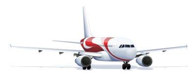 Nauwkeurige vliegtuigillustratie Stock Foto's