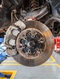 nav för diskettbroms av bilen arkivfoton