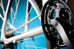 Nav, tandhjul och derailleur för vägcykelbaksida Royaltyfri Bild