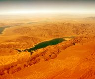 Navada Lake on Mars. It looks like another planet. Hot dry desert and a filter royalty free stock images