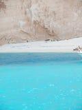 Navadzhio Beach (the island of sunken ships) Zakynthos, Ionian I Royalty Free Stock Image