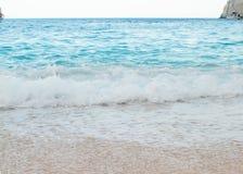 Navadzhio Beach (the island of sunken ships) Zakynthos, Ionian I Stock Photography