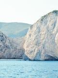 Navadzhio Beach (the island of sunken ships) Zakynthos, Ionian I Stock Images