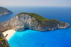 Navagio στο νησί της Ζάκυνθου, Ελλάδα Στοκ φωτογραφία με δικαίωμα ελεύθερης χρήσης