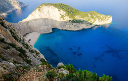 Navagio Bay View stock image