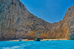 Navagio Bay view from the Sea Stock Image