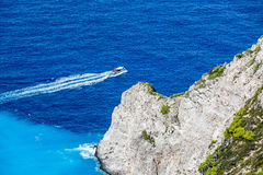 Navagio Bay at Zakynthos, Greece Royalty Free Stock Photo