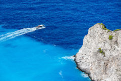 Navagio Bay at Zakynthos, Greece Royalty Free Stock Images