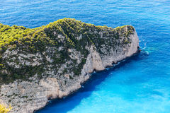 Navagio Bay at Zakynthos, Greece Royalty Free Stock Photography