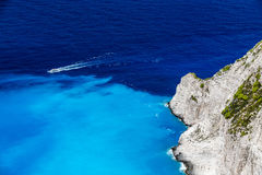 Navagio Bay at Zakynthos, Greece Stock Images