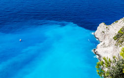 Navagio Bay at Zakynthos, Greece Royalty Free Stock Photos
