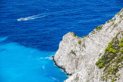 Navagio Bay at Zakynthos, Greece Stock Photo