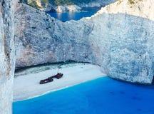 Navagio bay (Zakynthos, Greece) Royalty Free Stock Photo