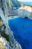 Navagio bay (Zakynthos, Greece) Royalty Free Stock Photography