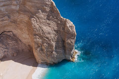Navagio Beach Cliff, Zakynthos, Greece Stock Photos