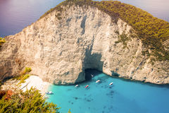 Navagio beach Royalty Free Stock Images