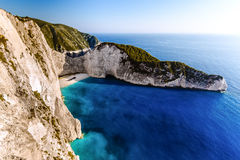 Navagio beach with shipwreck Stock Image
