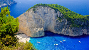 Navagio Beach - Shipwreck Beach, Zakynthos Island, Greece Stock Photography