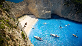 Navagio Beach - Shipwreck Beach, Zakynthos Island, Greece Royalty Free Stock Photography