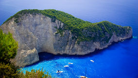 Navagio Beach - Shipwreck Beach, Zakynthos Island, Greece Stock Image