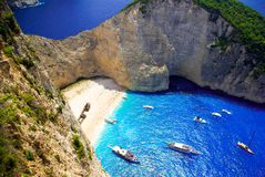 Navagio Beach - Shipwreck Beach, Zakynthos Island, Greece Stock Photos