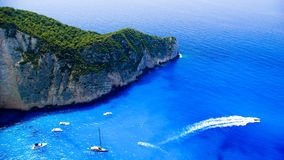 Navagio Beach - Shipwreck Beach, Zakynthos Island, Greece Royalty Free Stock Photos