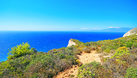 Navagio beach ( Shipwreck ) on Zakynthos island Stock Photos