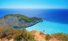 Navagio beach ( Shipwreck ) on Zakynthos island Royalty Free Stock Images