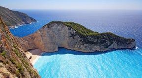 Navagio beach ( Shipwreck ) on Zakynthos island Stock Image