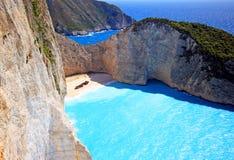 Navagio beach ( Shipwreck ) on Zakynthos island Stock Images