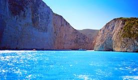 Navagio beach ( Shipwreck ) on Zakynthos island Stock Photography