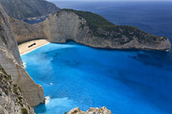 Navagio beach at Zakynthos Royalty Free Stock Image