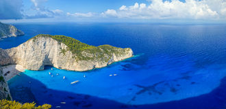 Navagio Beach in Zakynthos Royalty Free Stock Image