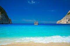 Navagio Beach in Zakynthos Stock Photos