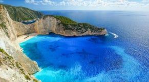 Navagio Beach in Zakynthos. Blue Water in Navagio Beach, Zakynthos, Greece royalty free stock photo