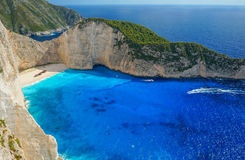 Navagio Beach in Zakynthos Stock Image