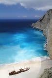 Navagio Beach, Zakynthos Greece Stock Photos